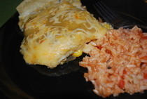 Green Chili Enchiladas*Vegetarian*