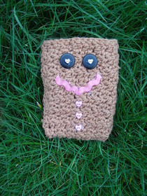Gingerbread Man Phone Cozy :)