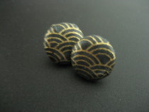 Papered Covered Button Earrings
