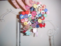 Button Jewellery Display