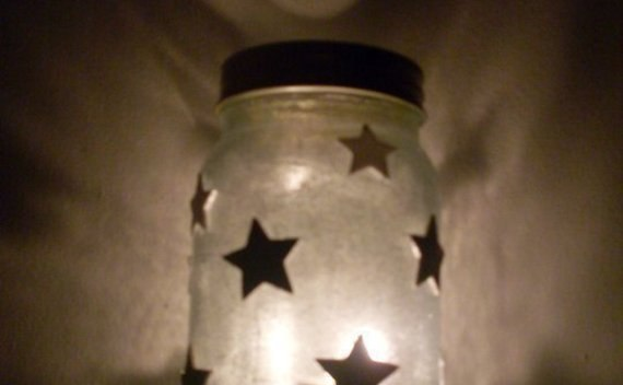 Beaded Jar Candle Holder