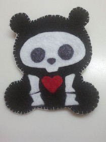 Skeleton Bear Pin