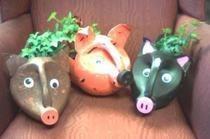 Bleach Bottle Pig Planter