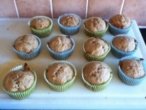 Banana, Honey And Cinnamon Muffins