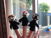 Crocheted Harry Potter Puppet (Finger) Pals