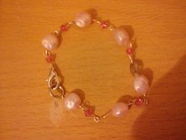 Pink Bead Charm Bracelet