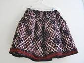 Plaid Floral Skirt