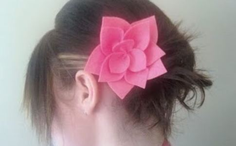 Easy Felt Flower Hairclip