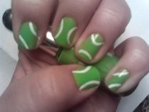 Tennis Ball Nail Art