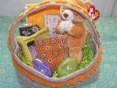 Childrens Handmade Easter Basket With Handmade Goods.