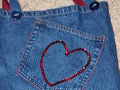 Denim Heart Pocket Bag
