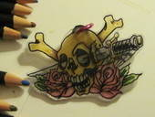 Skull Shrinky Dinks Charm