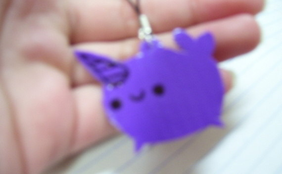 Duct Tape Narwhal Phone Charm