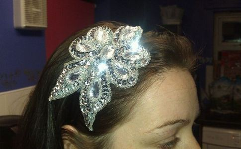 Diamond Applique Headband.