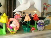 Spring/Easter Origami Fireplace Mantle