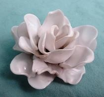 Plastic Spoon Rose Pendant