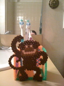 Fuse Bead Toothbrush Holder