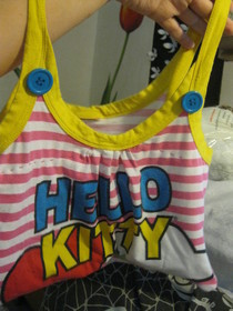 Hello Kitty Tank Into Little Bag
