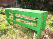 Small Green Bench