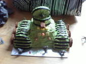 No Bake Tank Cake