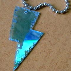 Cd Lightning Bolt Necklace