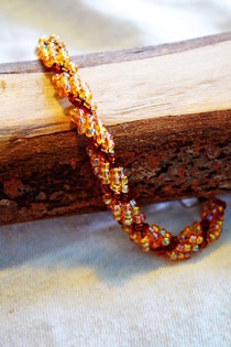 Spiral Seed Bead Bracelet