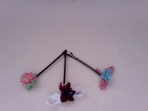 Ribbon Rose Bobby Pins