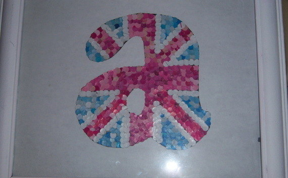 Diy Hole Punch Union Jack Monogram Letters