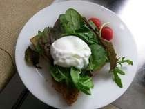 Self Made Bread With Poached Egg