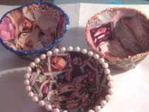 Paper Bowl   Jewelry Themed