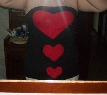 Strapless Top With Hearts