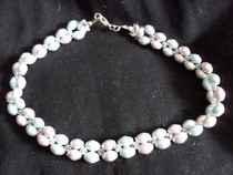 Pearl Necklace With Swarovski Crystals