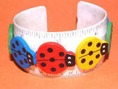 Lady Bug Ruler Bracelet