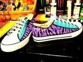 Purple Zebra Shoes