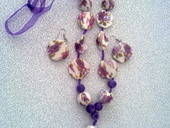Porcelain And Velvet Beaded Organza Necklace