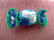 Candy Pincushion From Old Sock