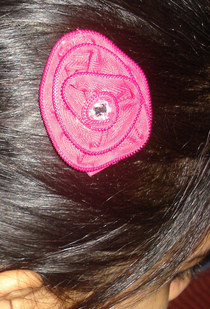 Zipper Flower Hair Clip :D