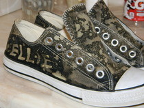 Customized Bleached Shoes