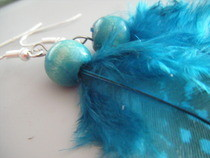 Feather Bead Earrings