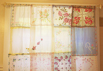 Vintage Hanky Curtains
