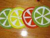 Citrus Slice Coasters