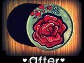 Tin Art Rose Heart