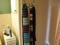 Scarf Hanger From Toilet Paper Rolls 