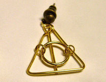 Easy Deathly Hallows Earrings