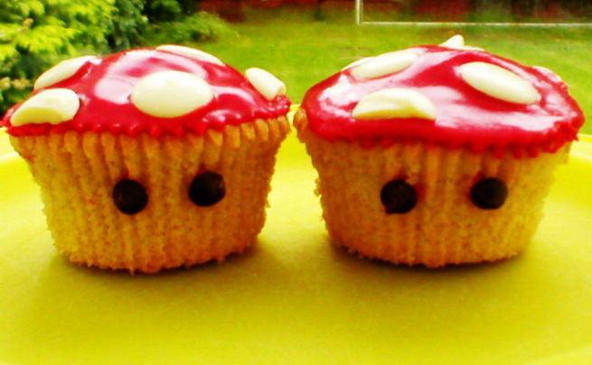 Mario Mushroom Cupcakes!