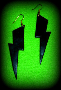 Fimo Lightning Bolt Earrings