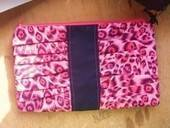 Pink Leopard Gathered Clutch 