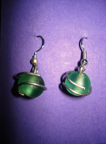 Wire Wrapper Bead Earrings!