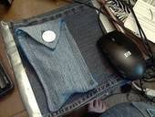 Denim Sunglasses Case