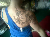 Shoulder Rose Henna